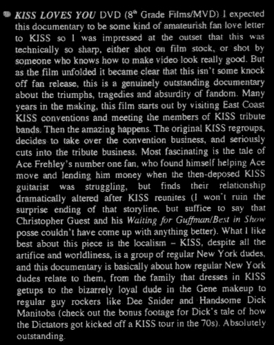 KISS LOVES YOU a film by Jim Heneghan ROCKTOBER Review
